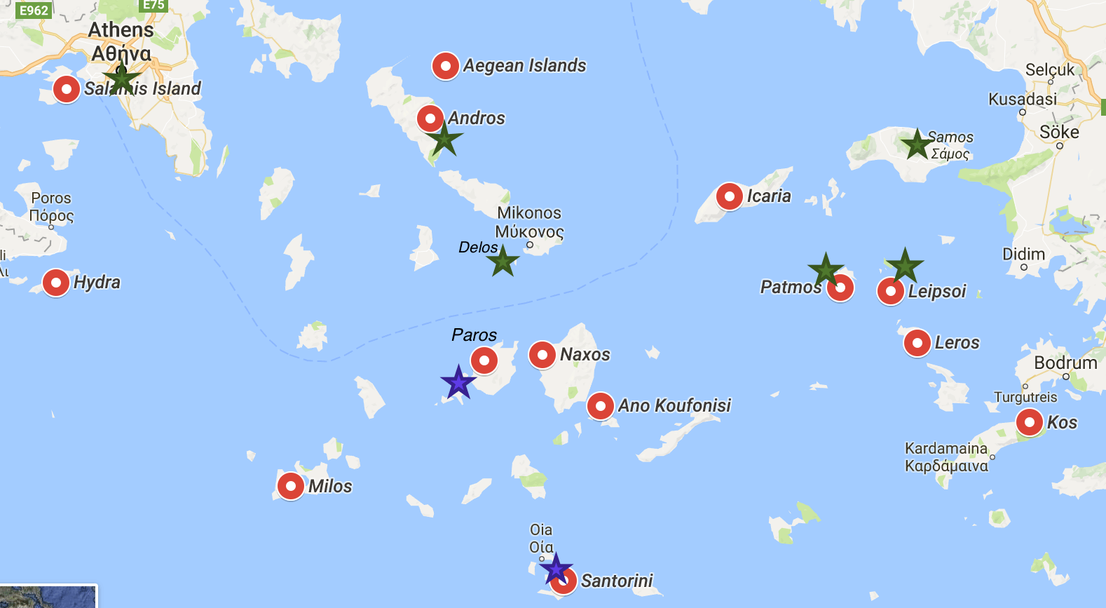 Week #2 – Sailing the Greek Islands Itinerary