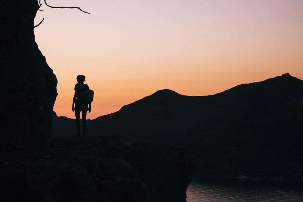 sunset patmos island greece