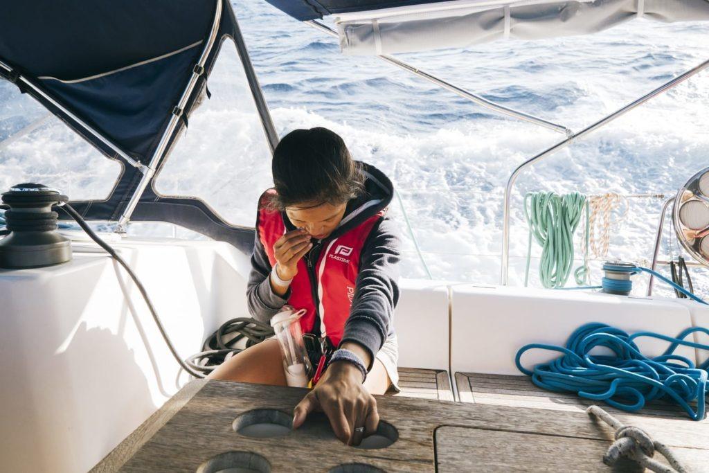sea sick sailing greece