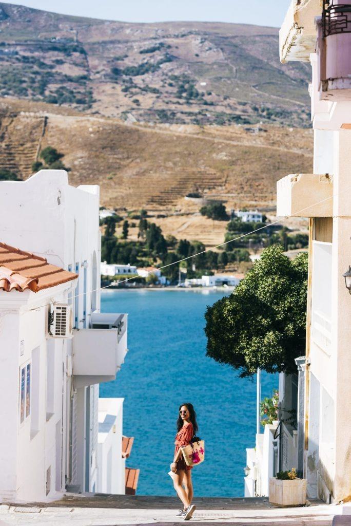 chora andros island