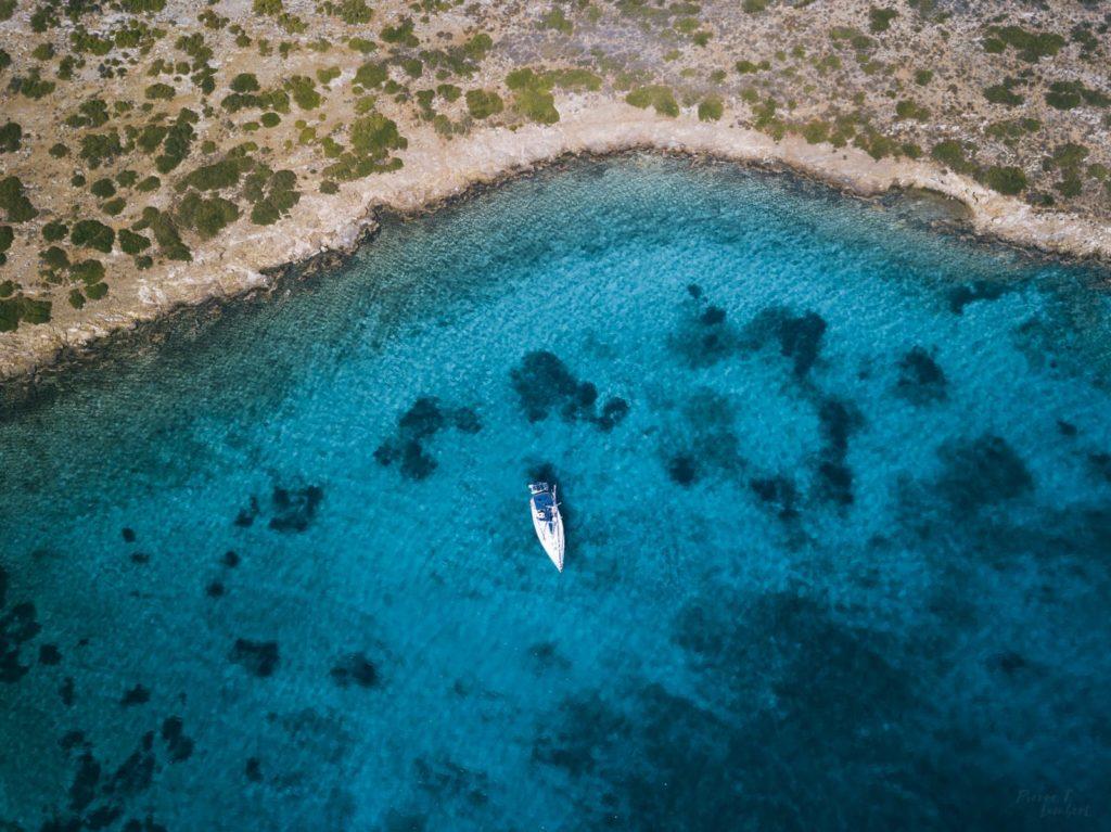 sailing greece drone photo
