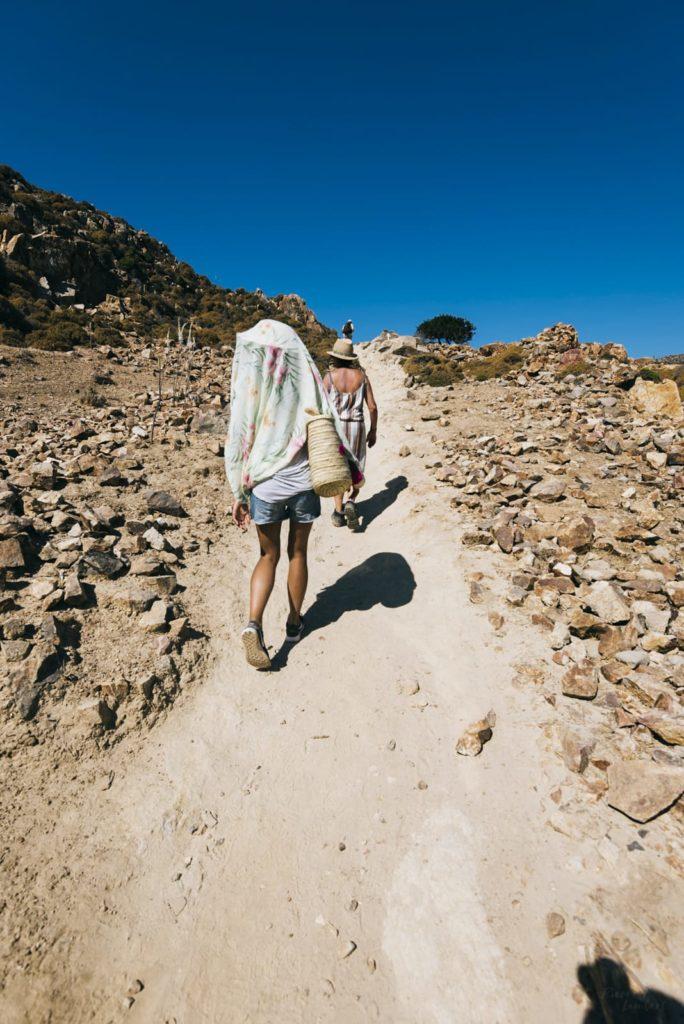 hiking patmos island