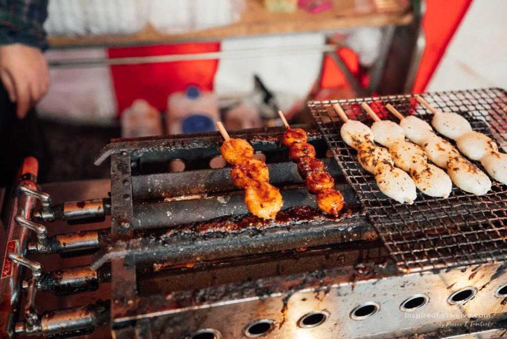 grilled mochi, inuyama japan, aichi prefecture, nagoya japan, inuyama festival, what to eat in nagoya