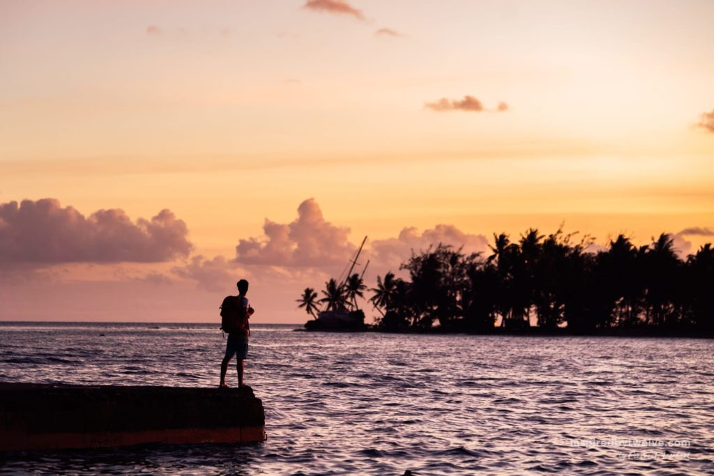 sunset french polynesia travel